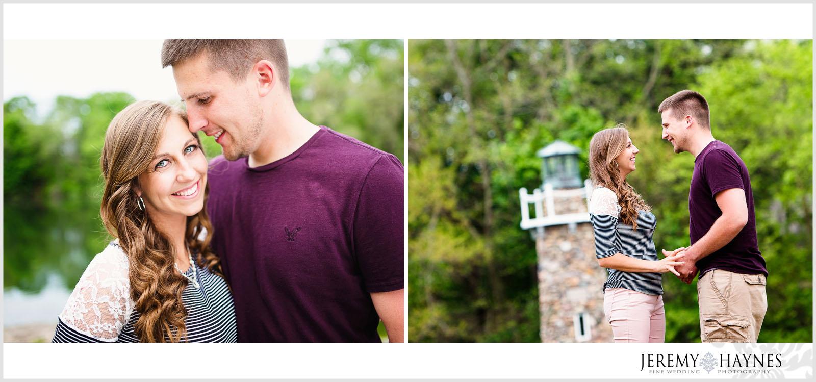 cute-engagement-couple-pendleton-falls-park-fountain