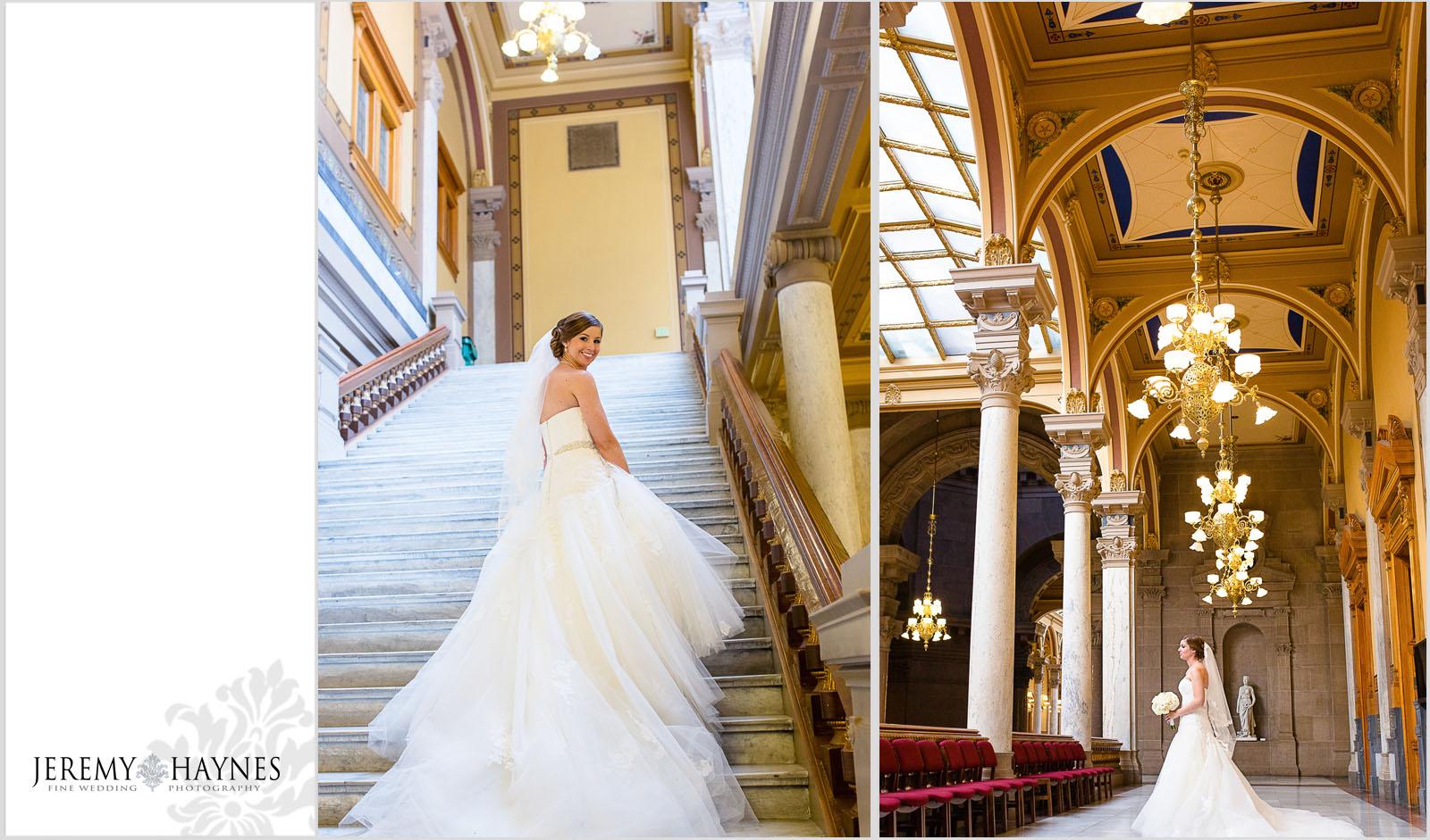 beautiful-wedding-bride-indiana-statehouse