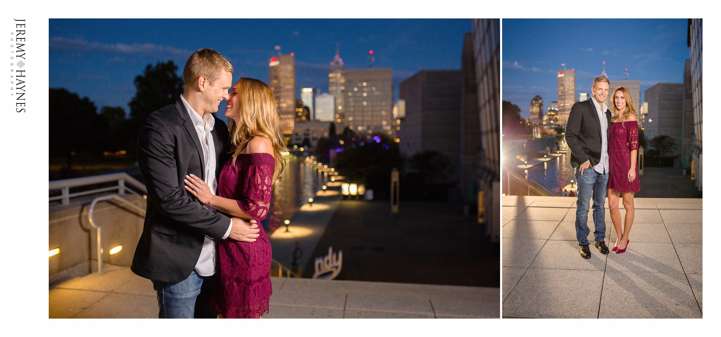 night-time-engagement-indianapolis-canal-photos.jpg