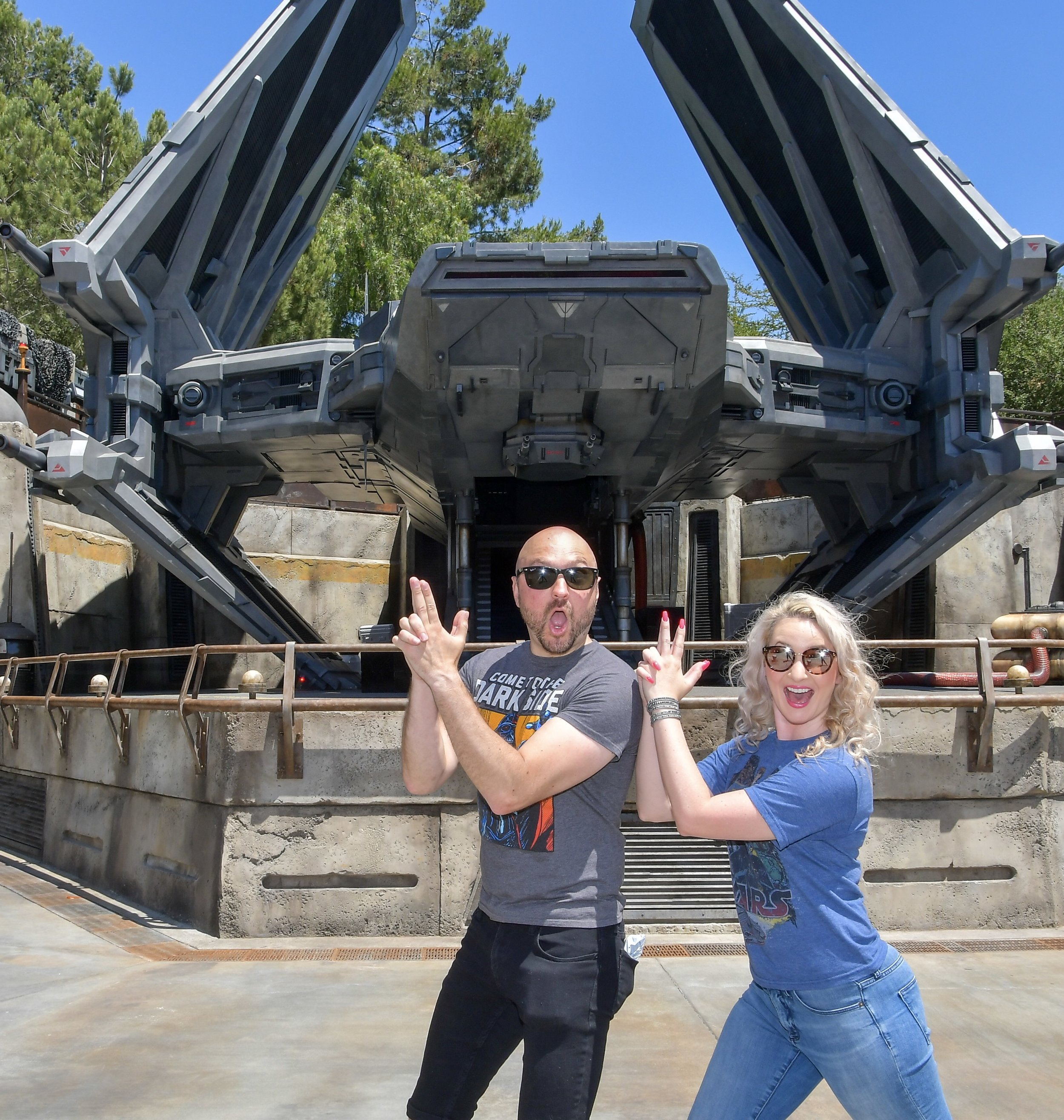 The first picture we took inside Star Wars Galaxy's Edge.