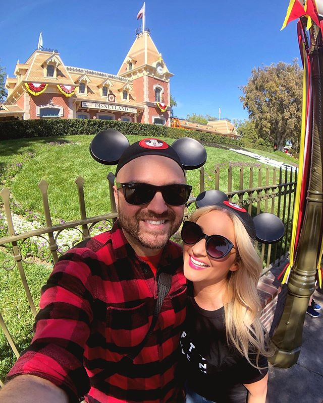 Happy Birthday to the Happiest Place on Earth! 🎉 I've been making memories here since I was a kid and I can't wait to make even more memories with this man by my side! 😍 Swipe to see baby Jess at @disneyland 🤣💕 #HappyBirthdayDisneyland #Engaged