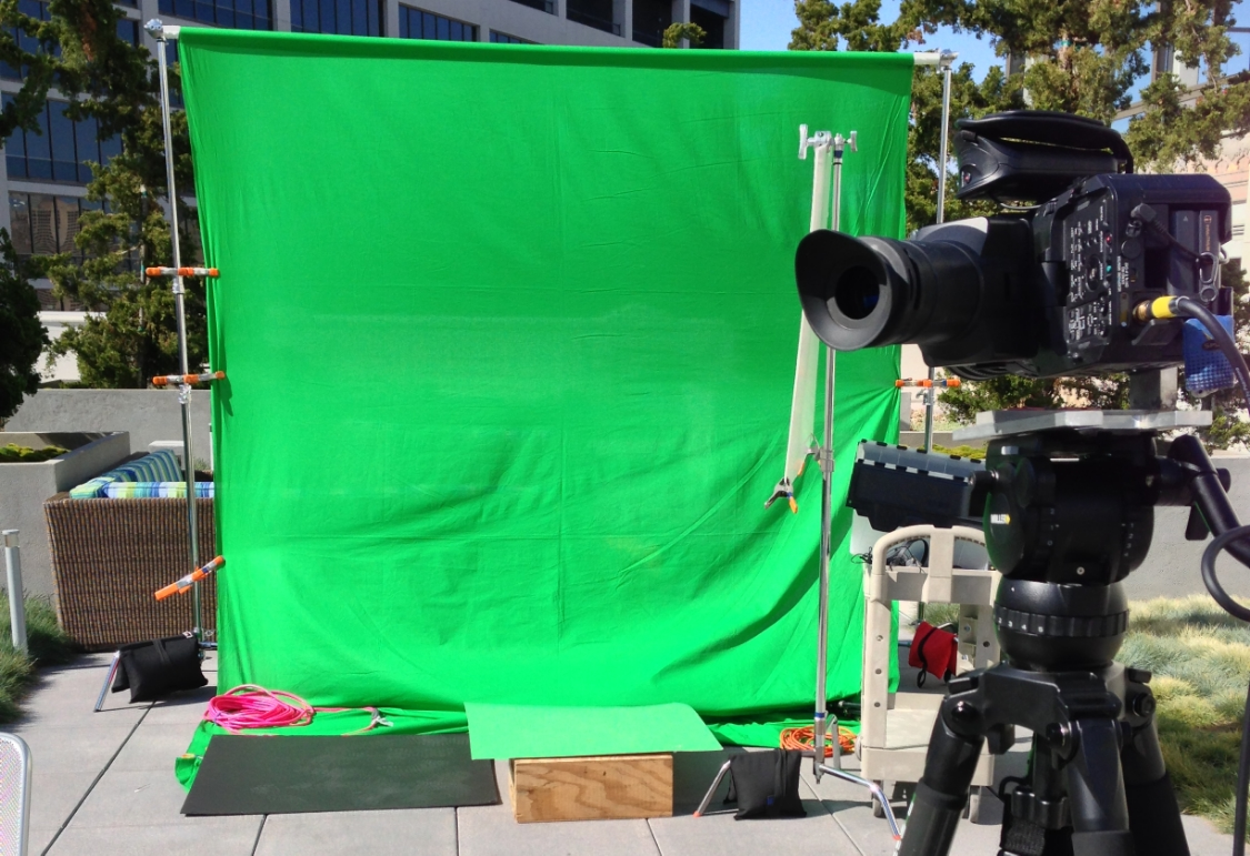 Greenscreen shoot on Twitter's roof deck