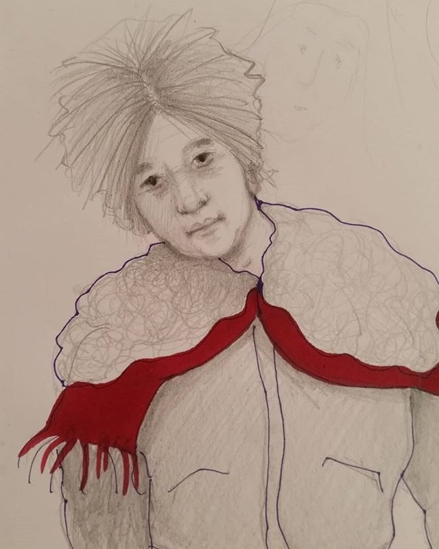 #scribble #painting# Figuren #portrait # Zeichnung