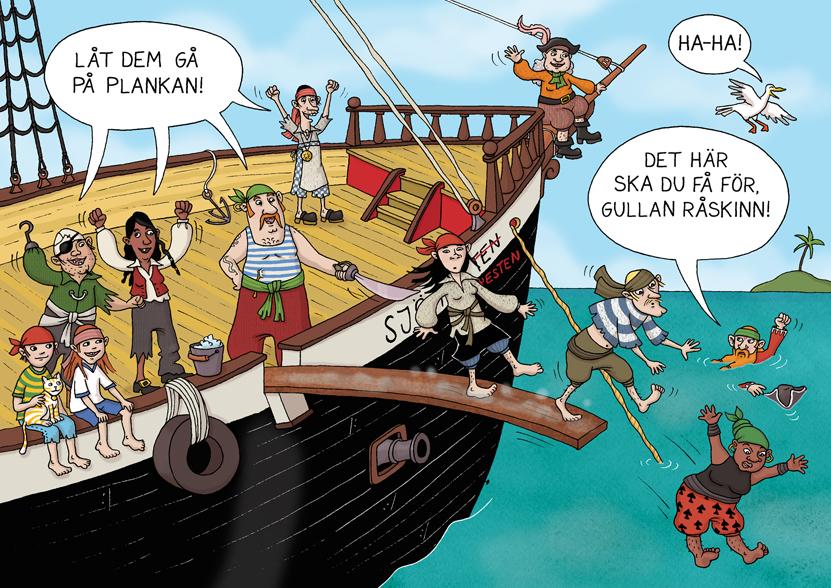 Illustration ur Gå på plankan!, Rabén & Sjögren 2013