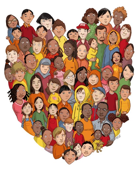 Affischbild till föredrag om skolors mottagande av nyanlända i Haninge Kommun, 2015