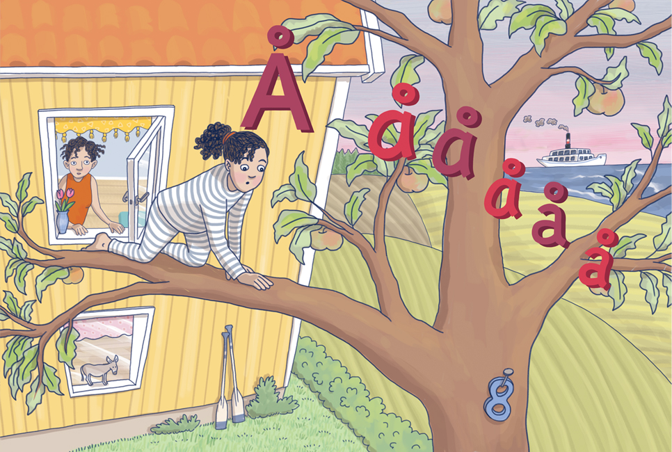 Illustration ur ApABC, Hatten Förlag 2019