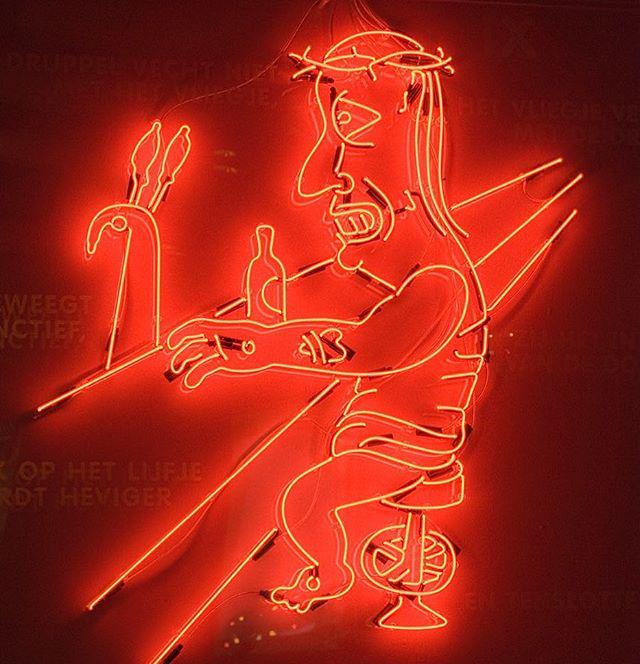 #neon #jesus by @jeroendeleijer #sold #auction