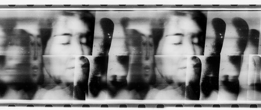 Paolo Gioli, Volto attraverso la propria mano (Face Through Her Own Hand), 1996, b/w photographic print, 16 x 20″
