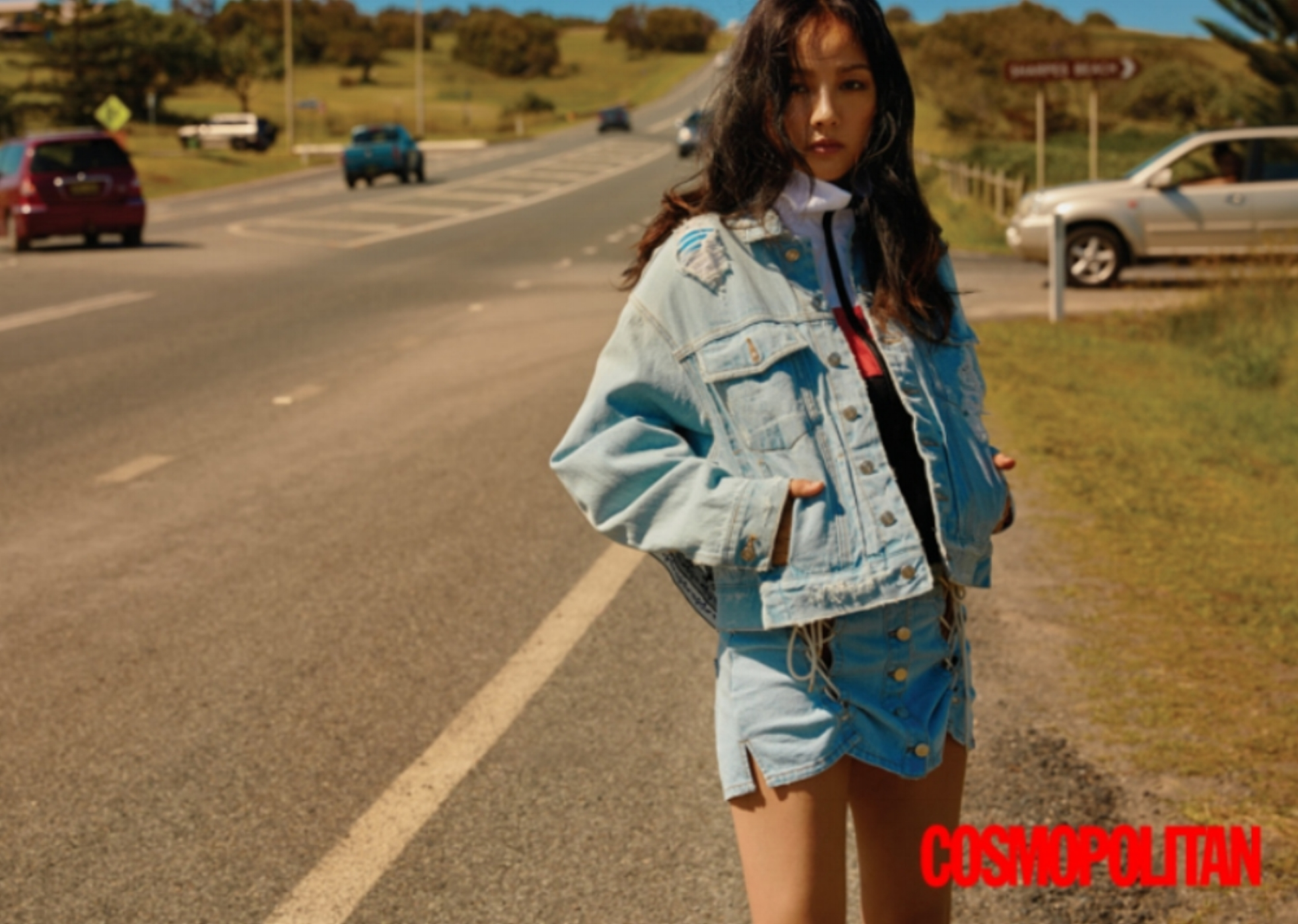 COSMOPOLITAN   Project Name:  The Endless Road   Casting:  Lee Hyori   Creative Director:  Sophia Ji-Hye, Kang   Location:  Brisbane, Australia   Production Service:  KNT Production