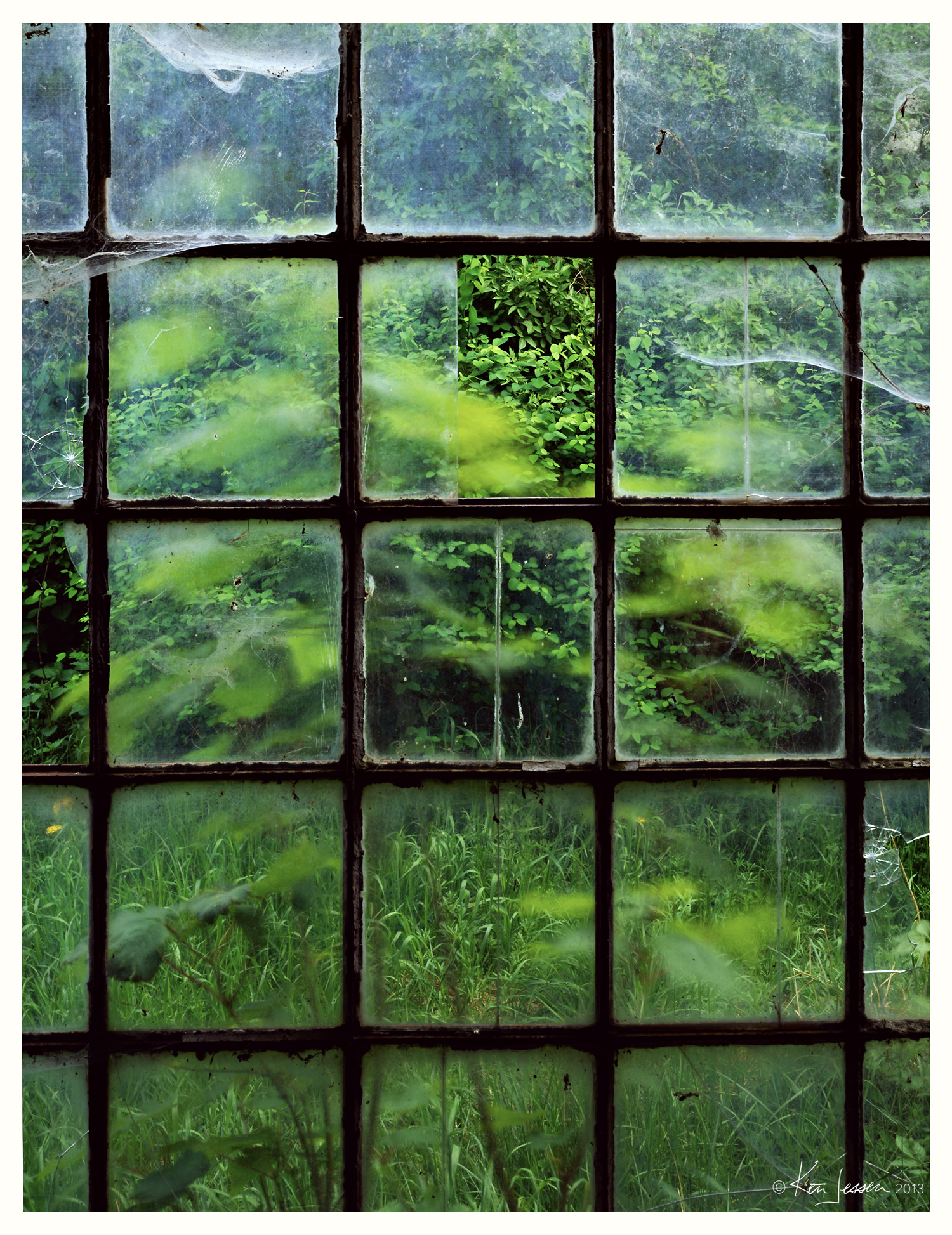 Stable Window at Abandoned Farm
