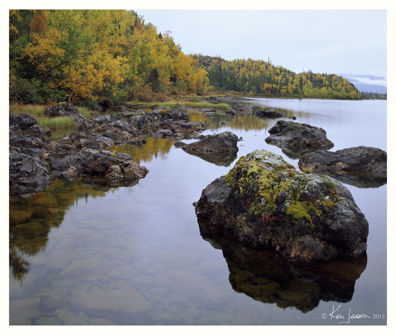 Shoreline Rocks and Fall Colors