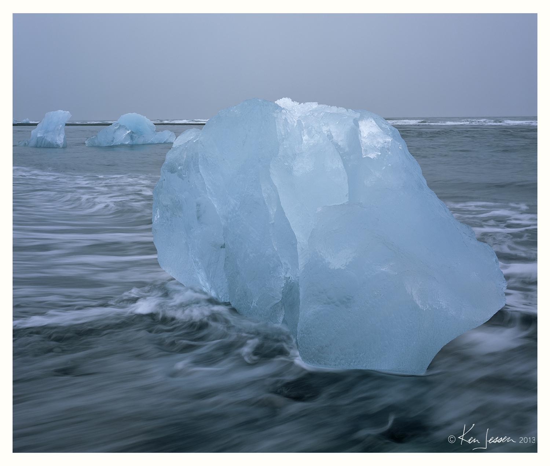 Icebergs on Beach