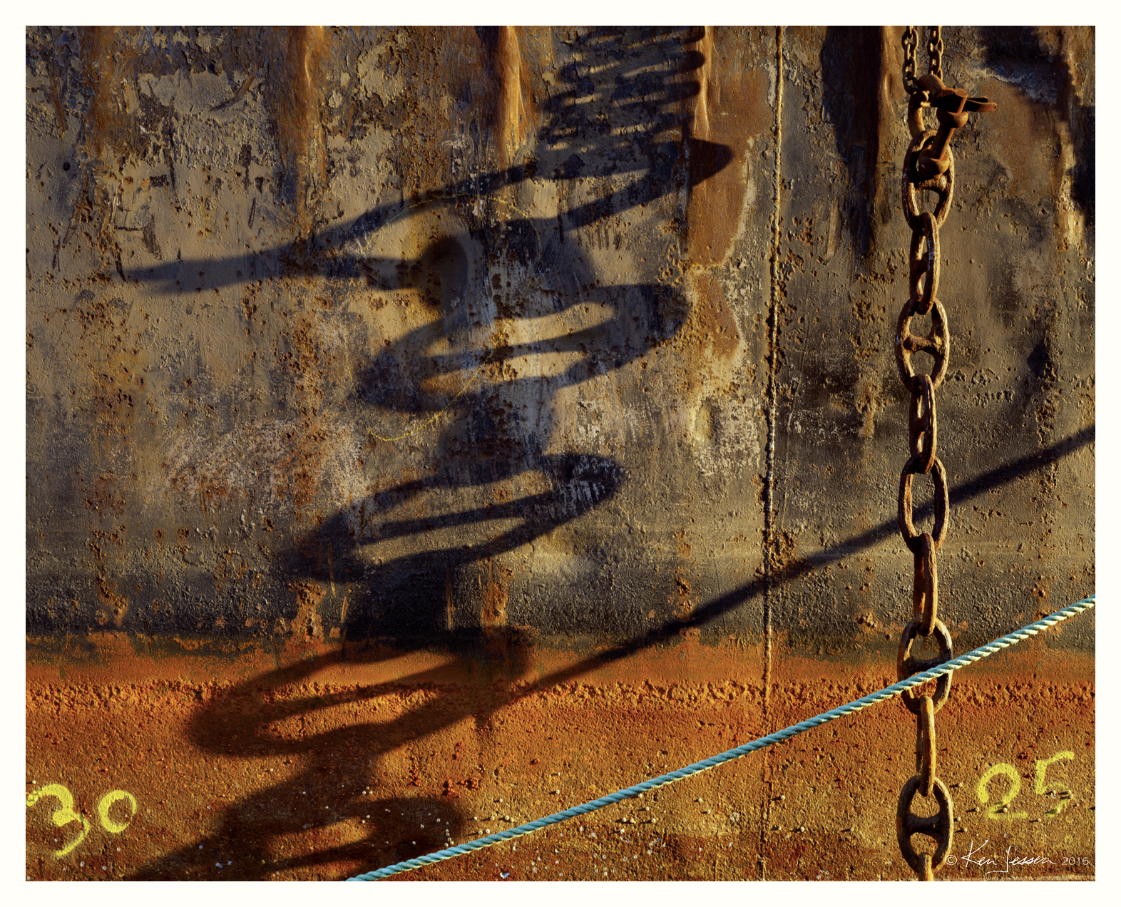Chain Shadow on Barge