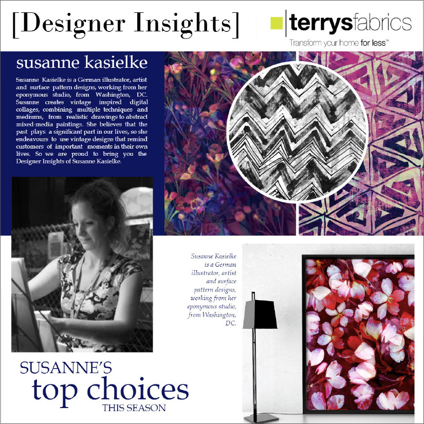 TERRYS FABRICS : Designer interview or 'Designer Insights',   Click here to read  , 09/2015