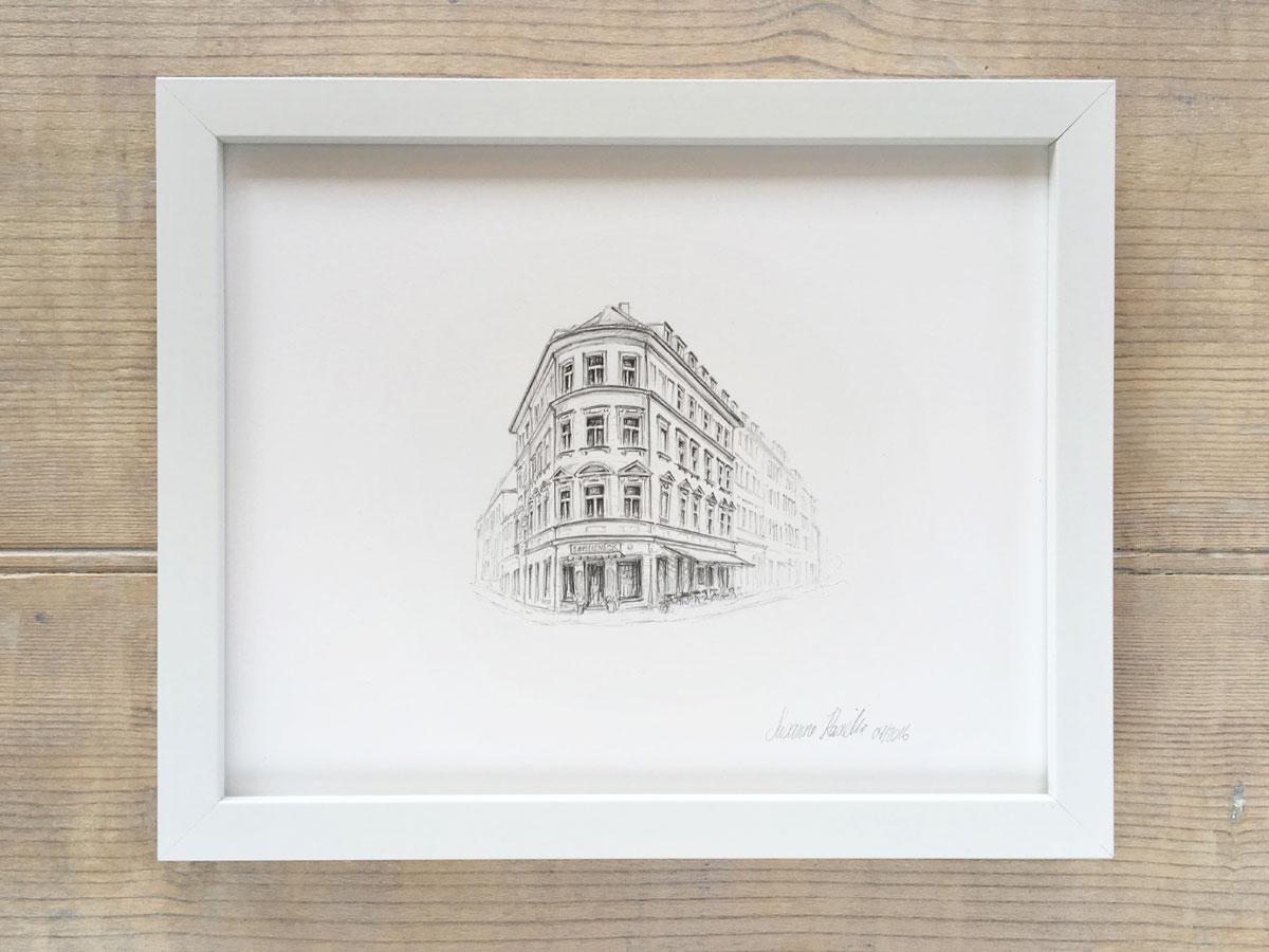 Example framed illustration $330