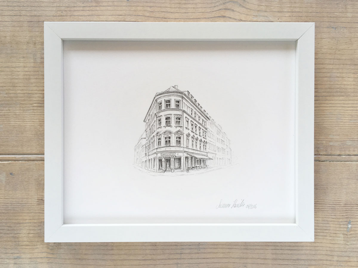 Example framed iIllustration $330