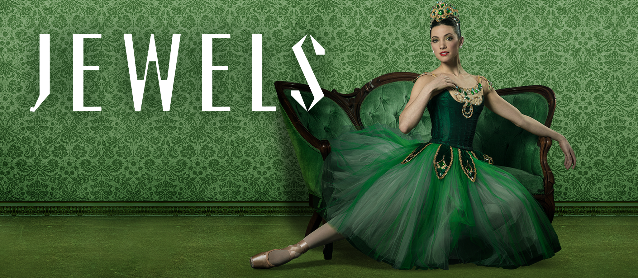 Pennsylvania Ballet Jewels Dancer photo and title graphic
