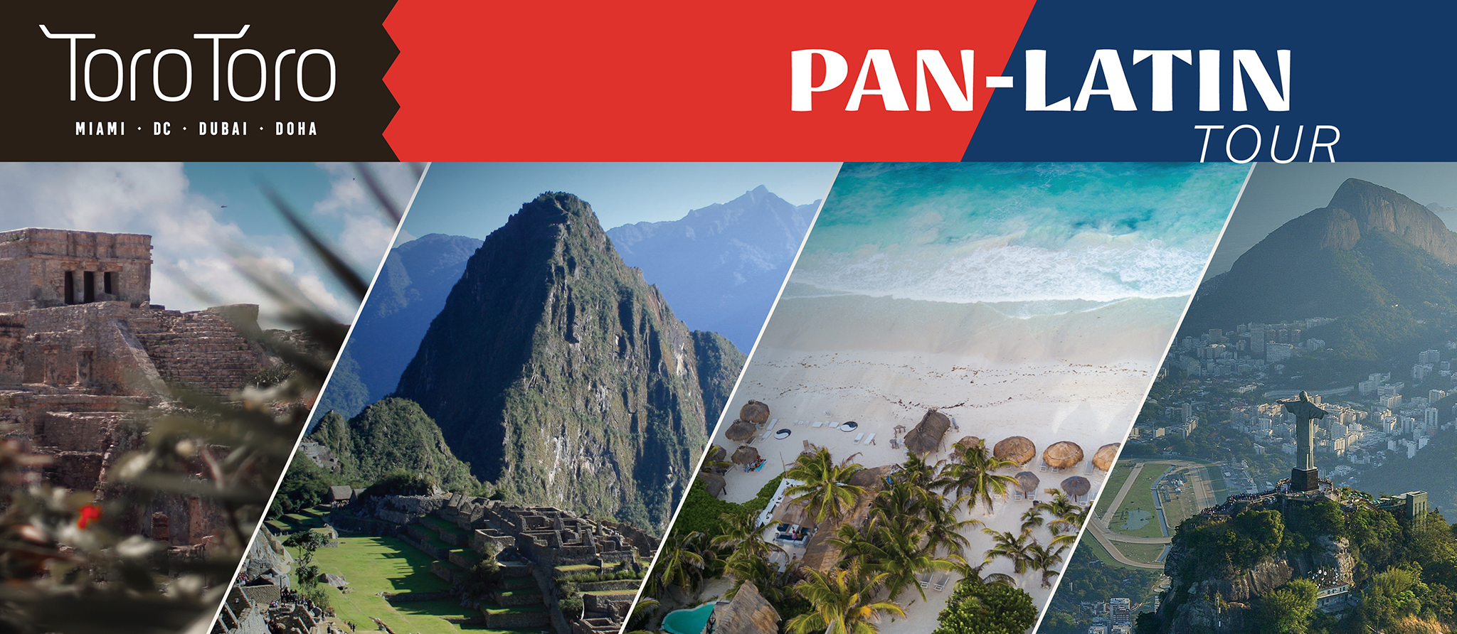 Toro Toro Pan-Latin Tour landscape photos and title graphic
