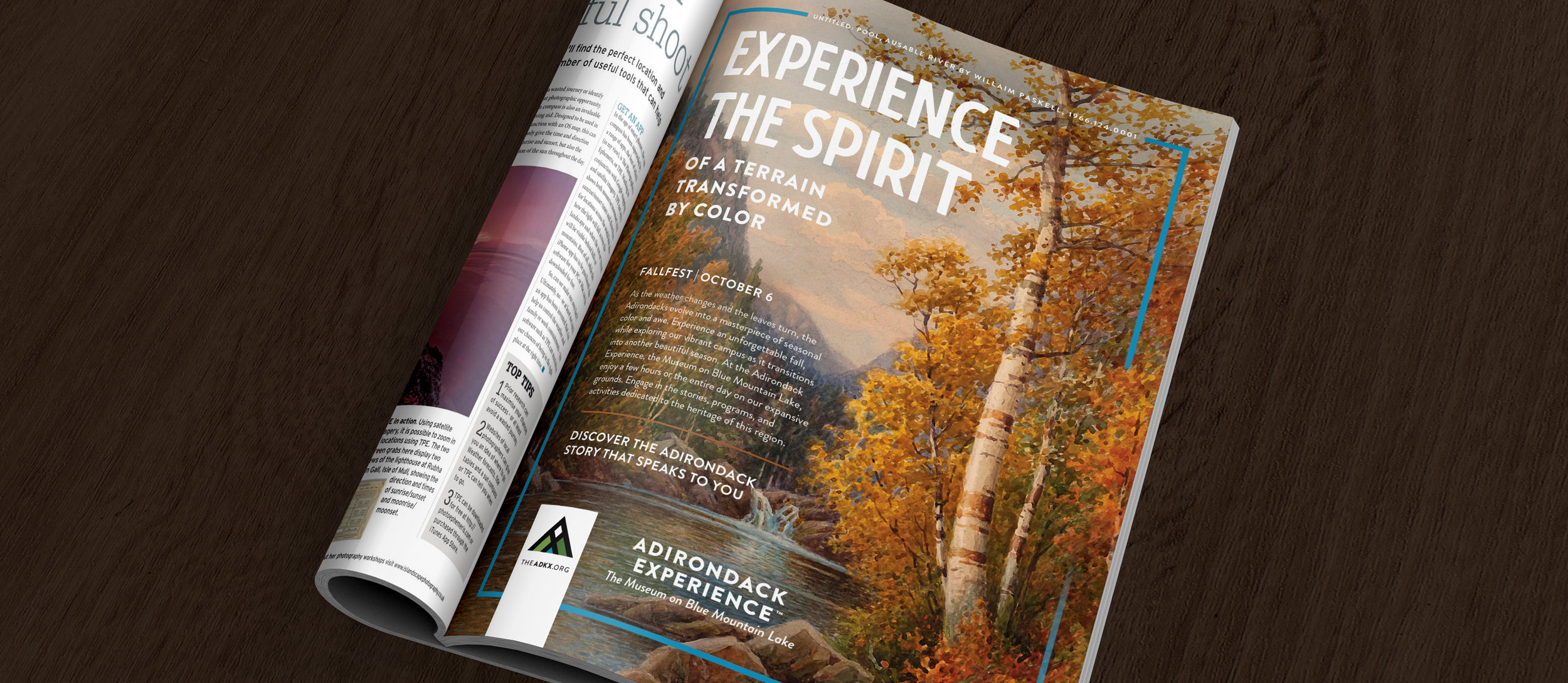 2018 Adirondack Experience FallFest print ad magazine