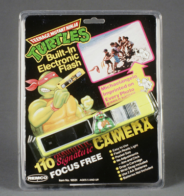TMNT pocket 110 camera with electronic flash.