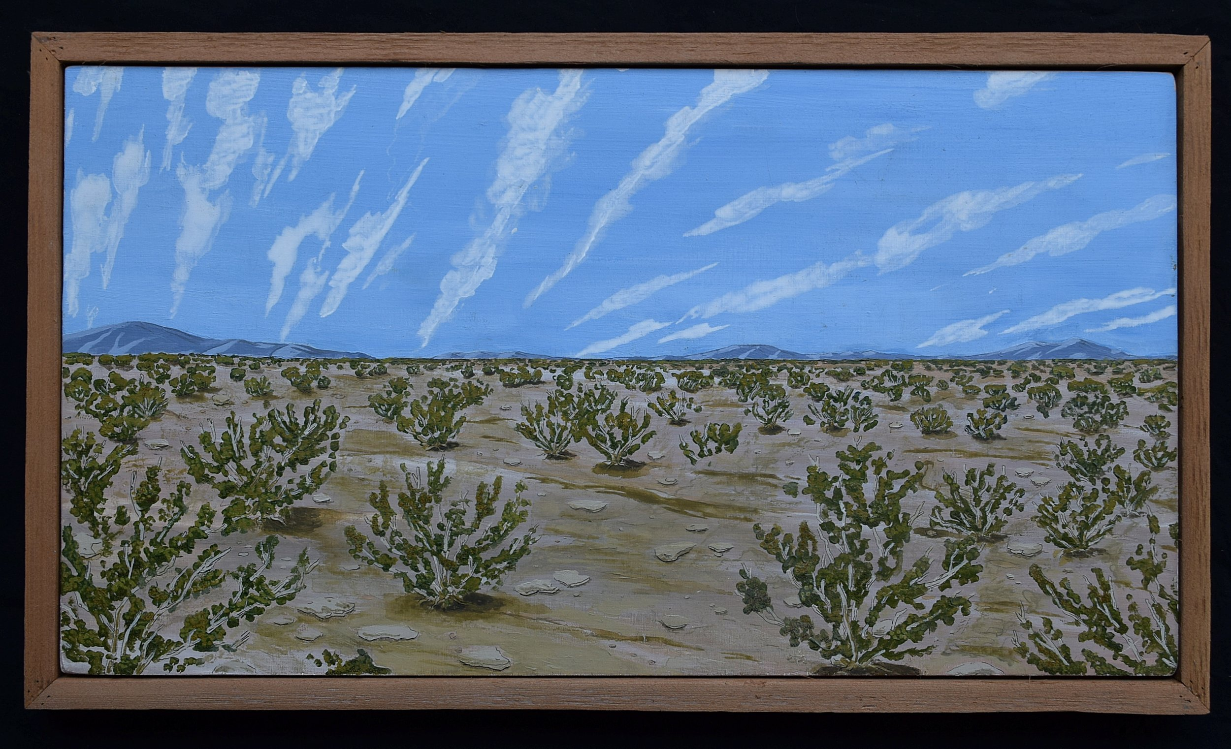 Creosote Desert.  2016. Acrylic on plywood. Private collection.