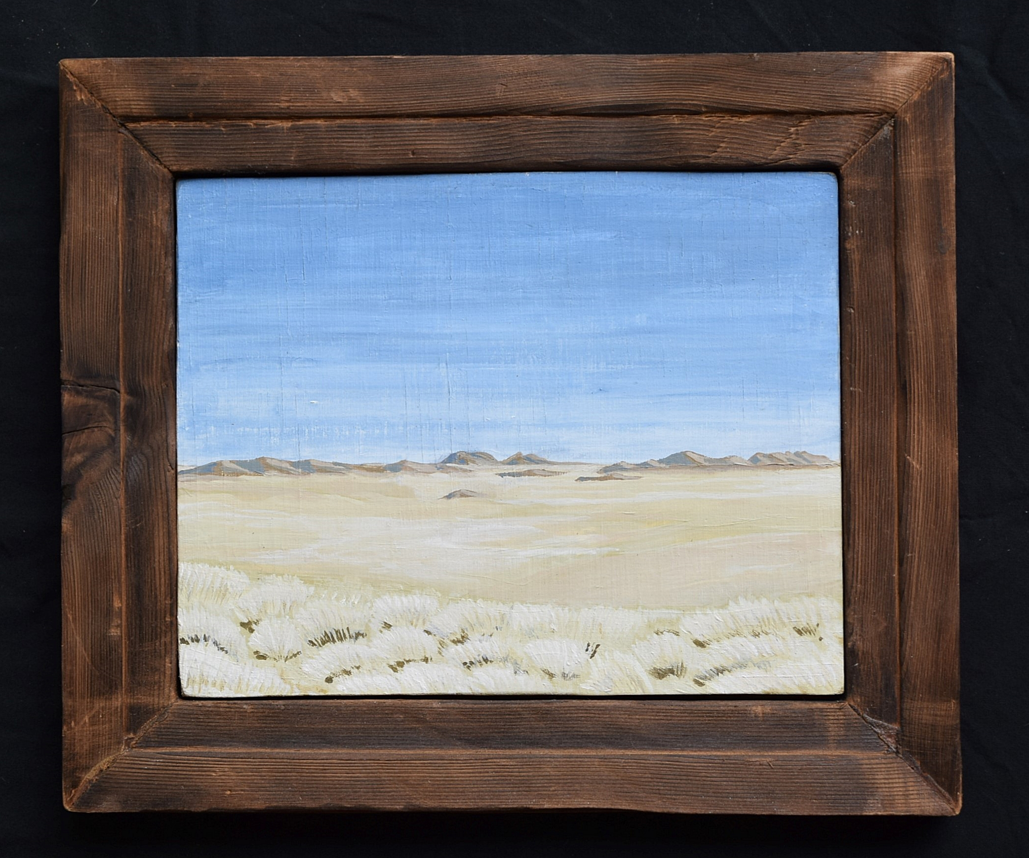 Empty Desert With Grasses.  2016. Acrylic on Plywood. Private Collection.