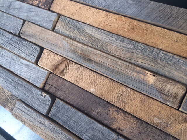 "distressed, reclaimed, salvaged wood. now, it's easier to get at your fingertips... this gorgeous wood plank product is ""found"" already, easy to install. put  it on your walls, make a headboard, clad a column or door opening, etc... etc..."