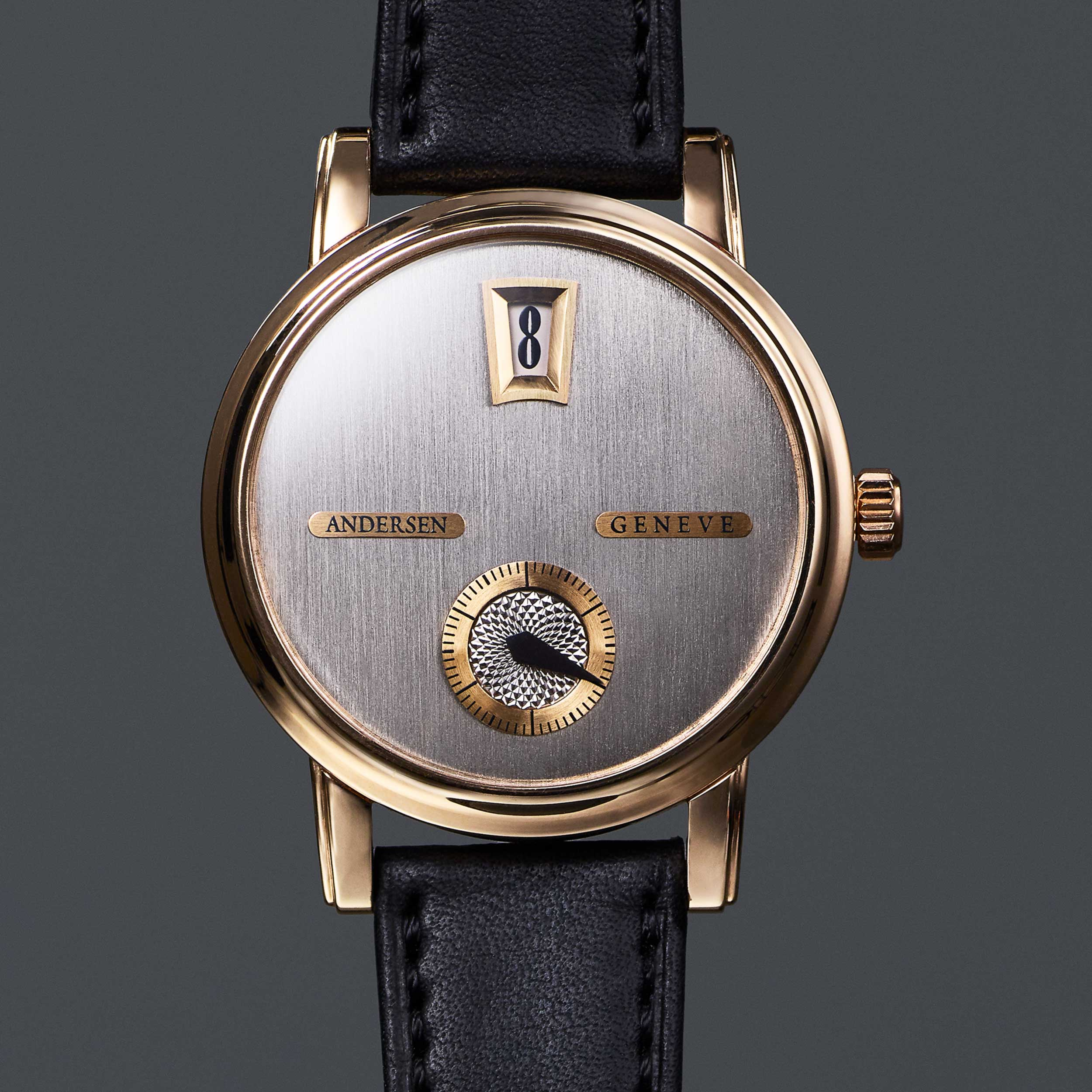 After  The final bespoke watch with Jumping hour complication by Andersen Geneve