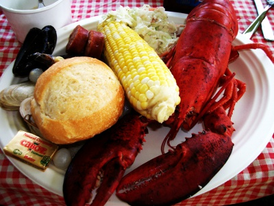 Lobster Plate with all the fixings