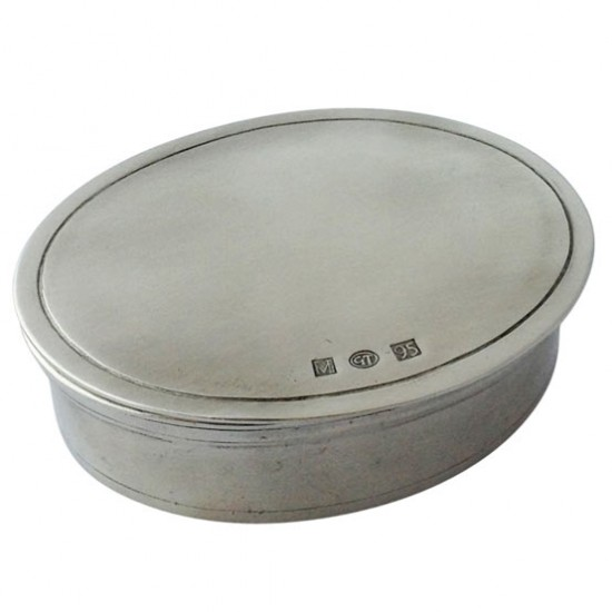 Match Pewter Oval Dresser Box, Small