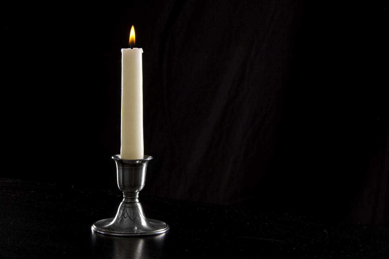 Match Pewter Short Candlestick