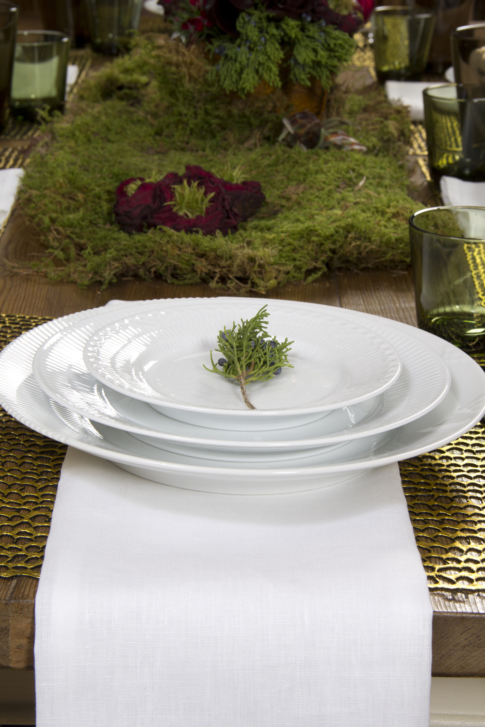 Royal Copenhagen Dinnerware and Libeco Home Everyday Napkins