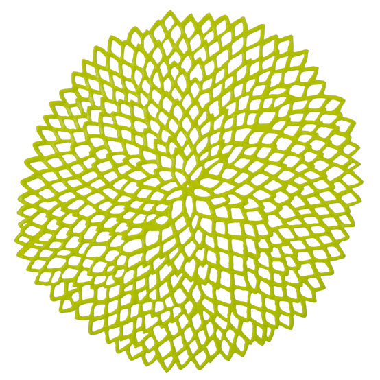 Chilewich Dahlia Placemat in Lime