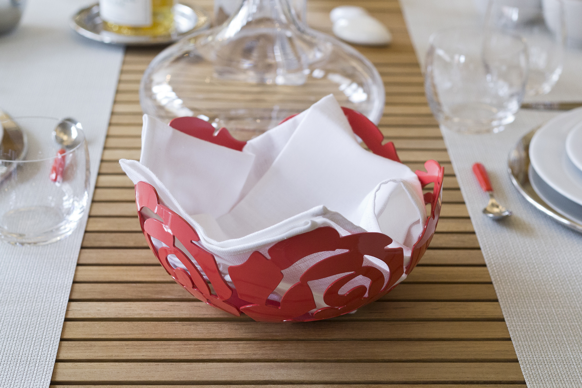 Alessi La Rosa Bowl in Red