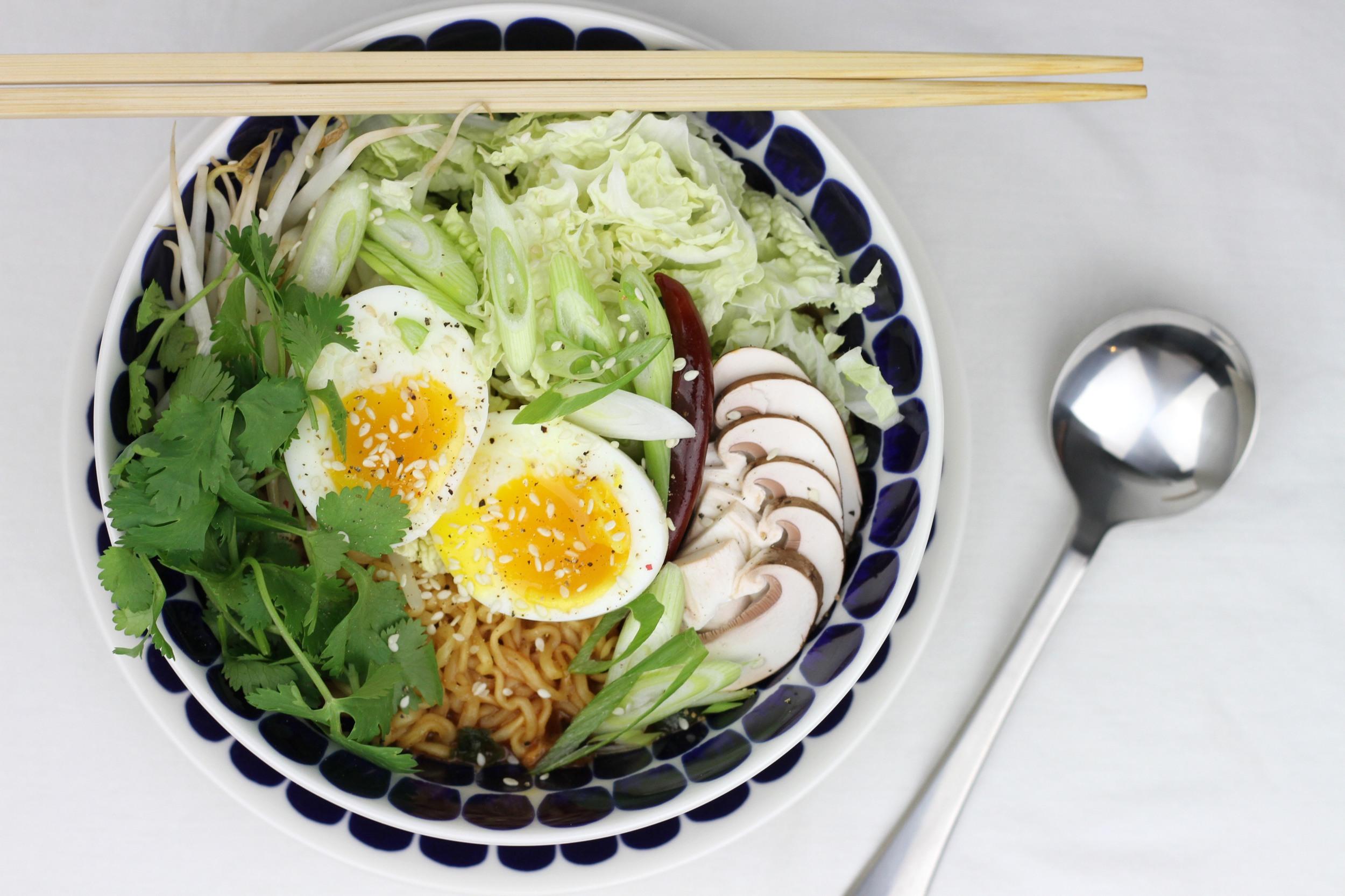 Arabia  24H Tuokio soup bowl  and  salad plate .  David Mellor Classic soup spoon .