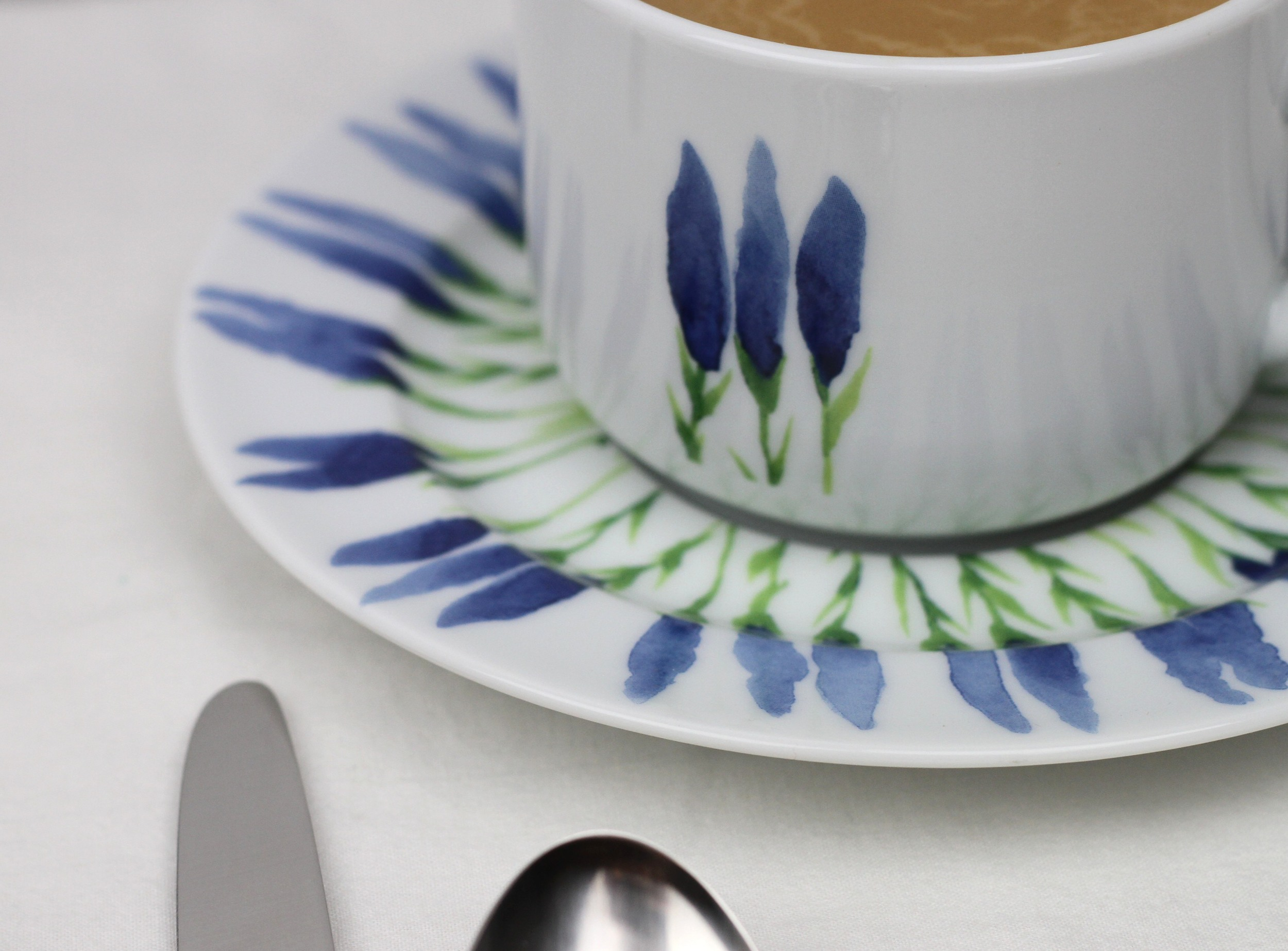 Pillivuyt  Fleur de Provence cup  and  saucer
