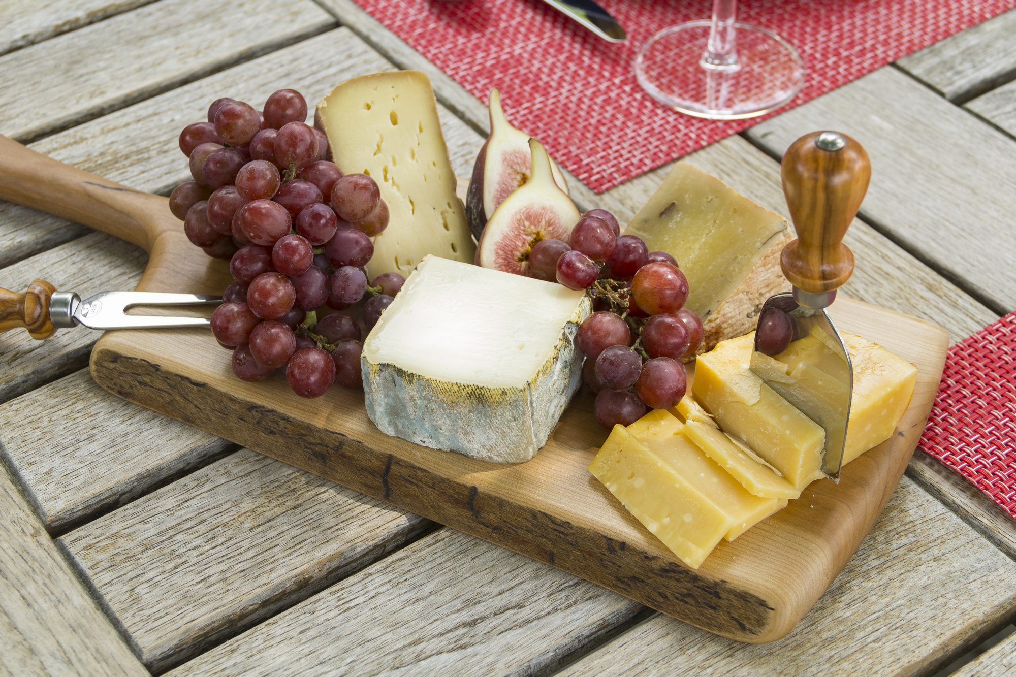 Spencer Peterman Board with Berti Cheese Knives