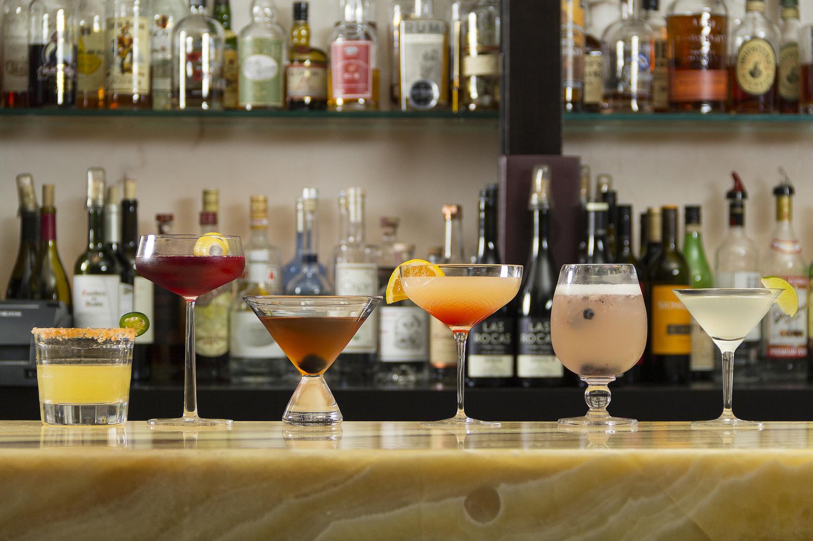 Glassware cocktail shoot at Nubar