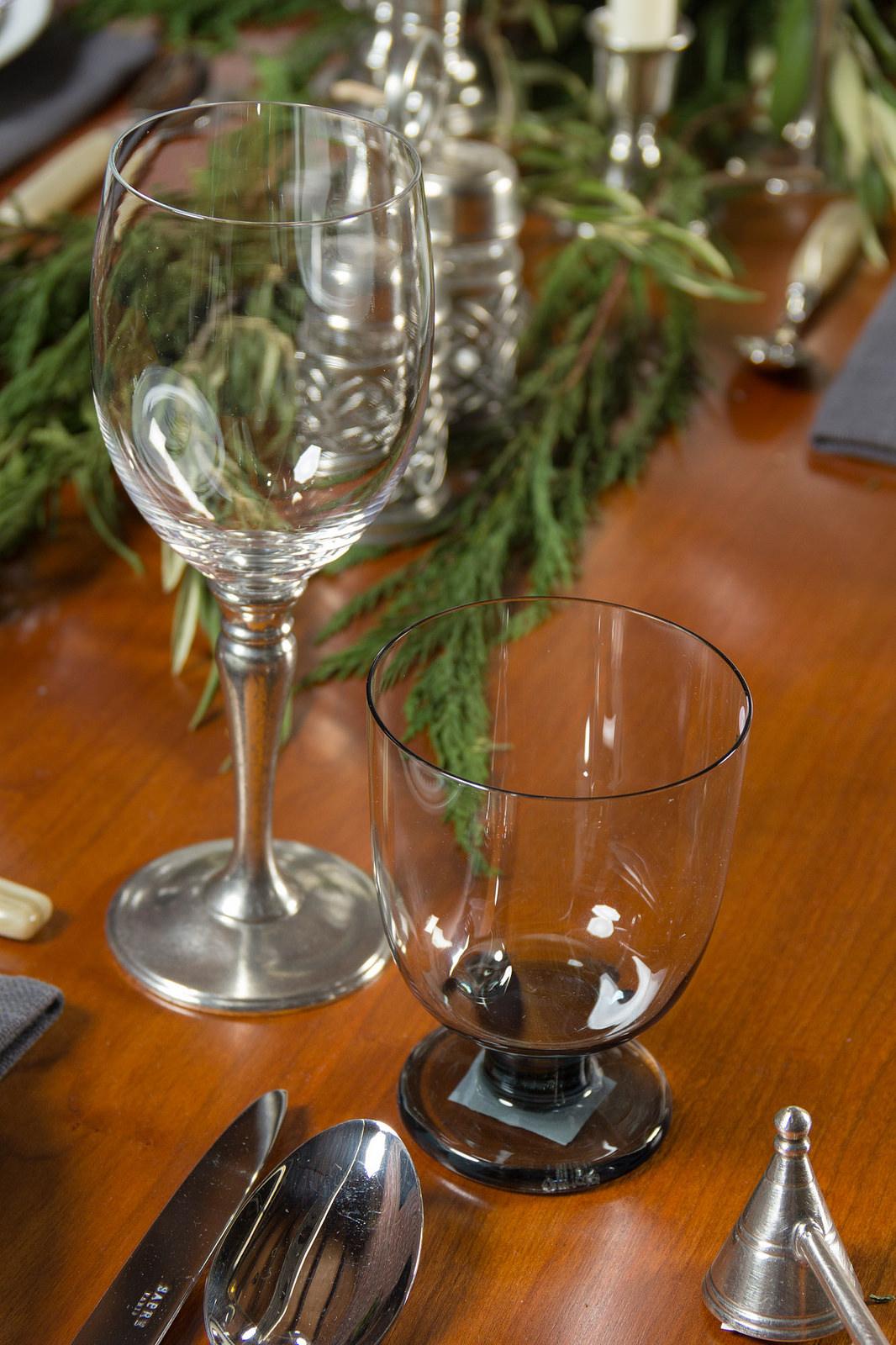 Match Pewter wine glass ,  iittala Lempi glassware ,  Match candle snuffer