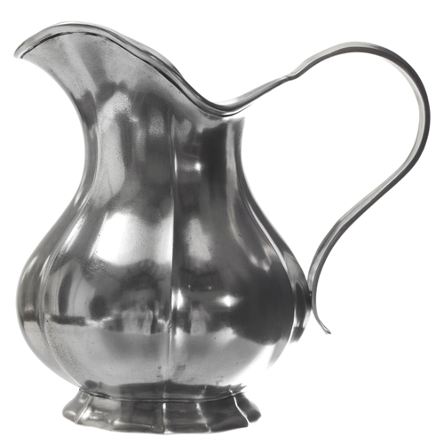 match pewter fluted pitcher