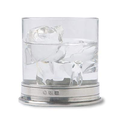 match pewter double old fashioned glass