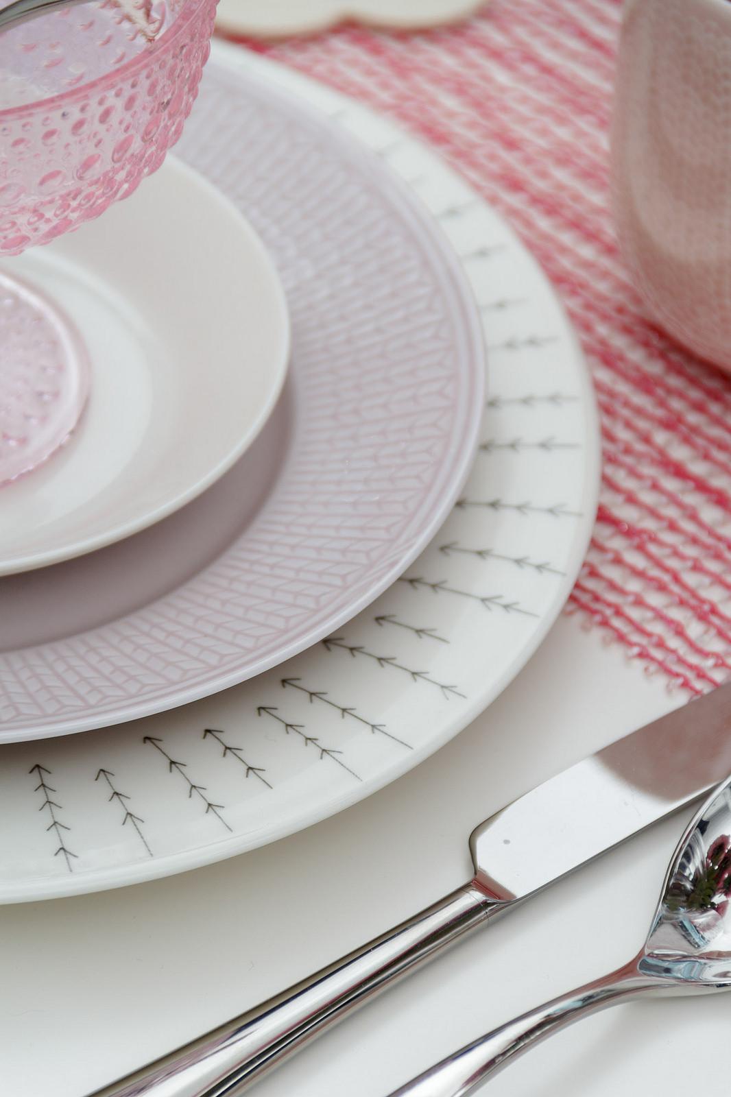 iittala Sarjaton and Rorstrand Swedish Grace dinnerware