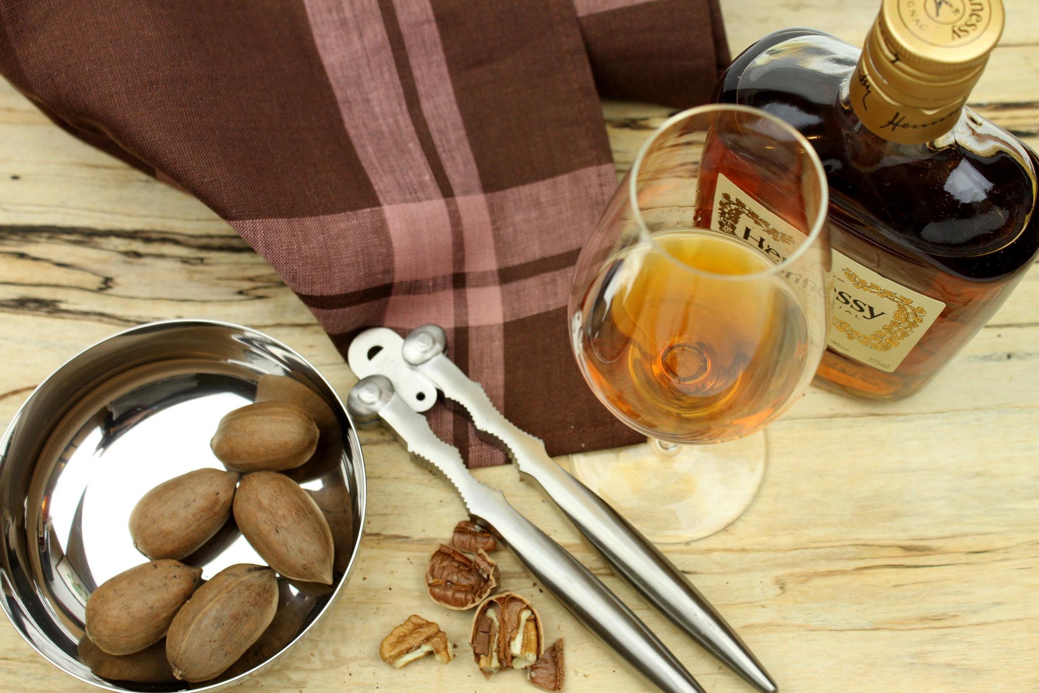 Alessi  nut cracker , Schott Zwiesel  Enoteca Cognac glass , Libeco Home Hudson tea towel,  Spencer Peterman spalted board