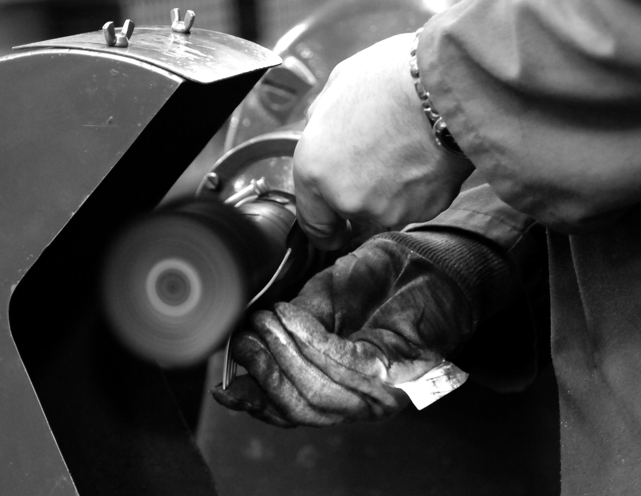 Hand finishing at David Mellor