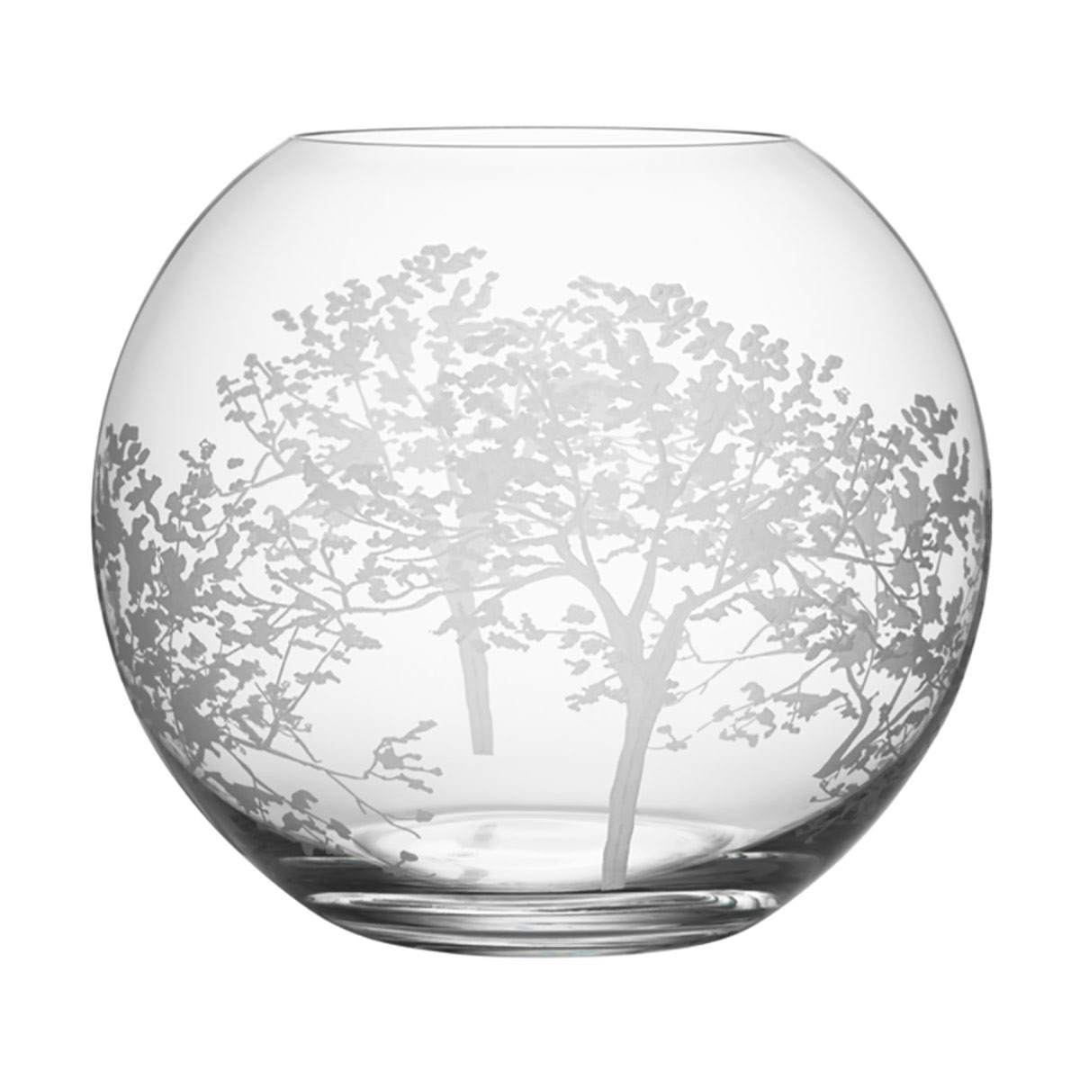 Organic Round Vase - A refined glass vase always makes a great gift. With three different designs, this vase from Swedish glass designer Orrefors is sure to impress. Perfect for a lush flower arrangement or on its own. $75