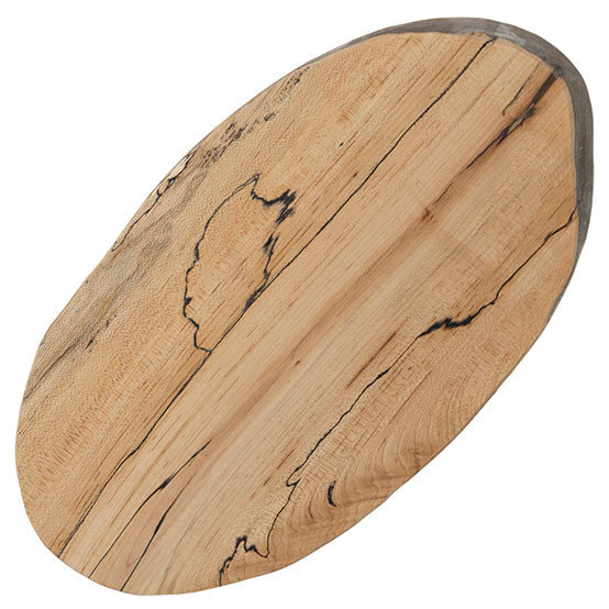 Reclaimed Wood Boards - Each stunning serving board is unique and made from fallen trees right here in Massachusetts. Paired with a set of cheese knives, this board makes a great local gift. $50+