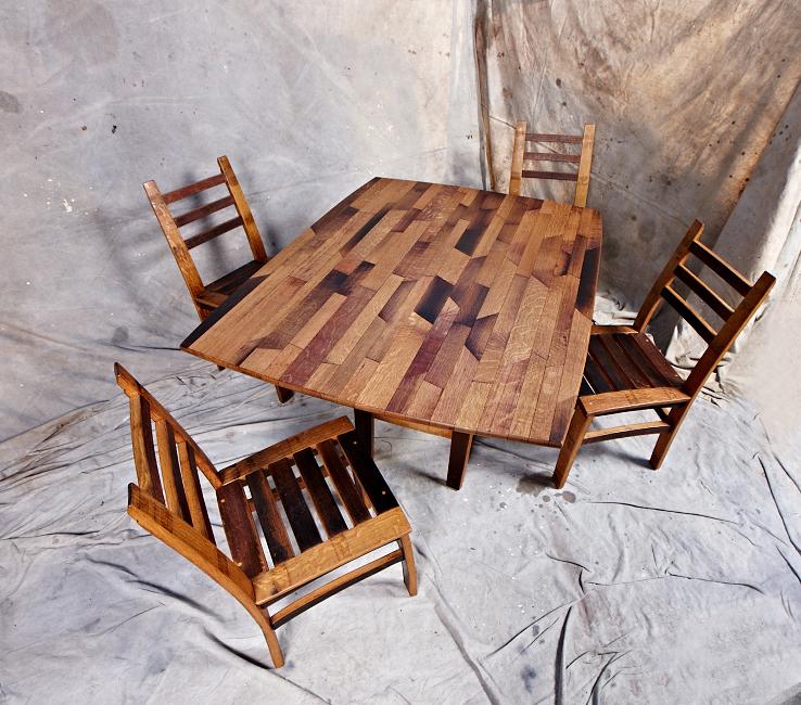 MZ3D rectangular parquet table