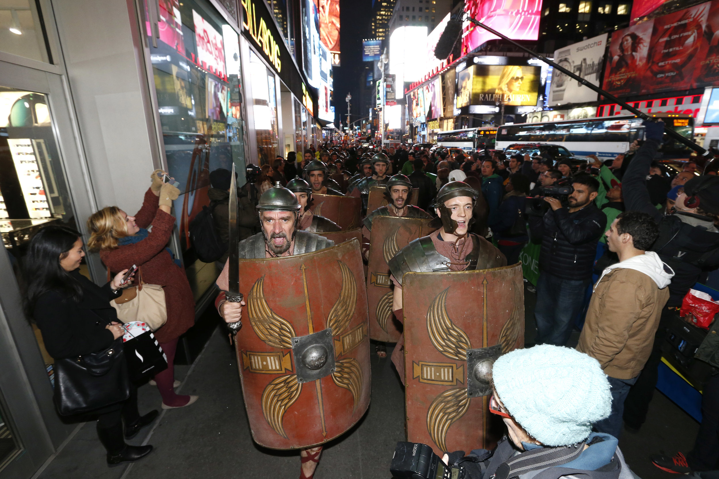 Ryse: Son of Rome Cos-Play in Times Square 2013. Credit Microsoft Press Kit.