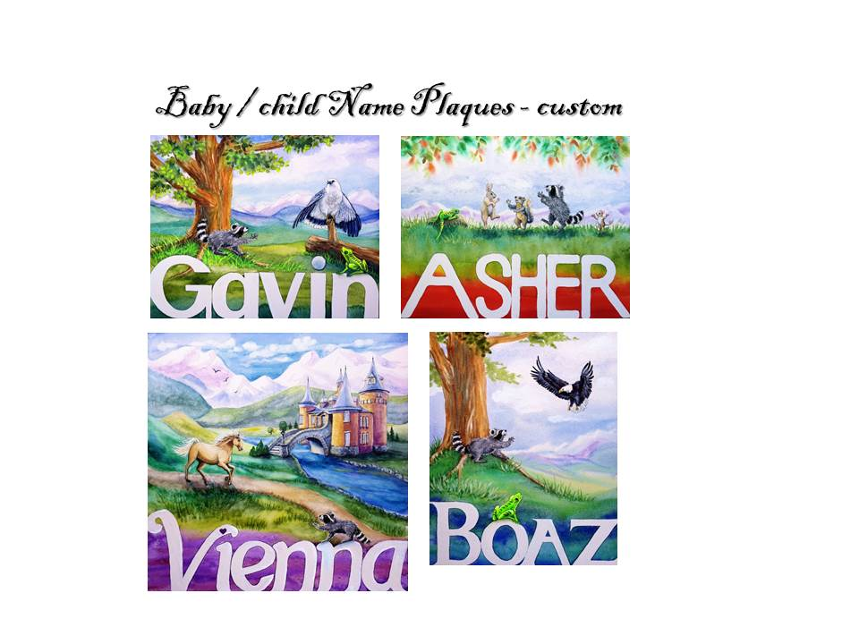 Custom Name Plaques - with meaning of name in animals