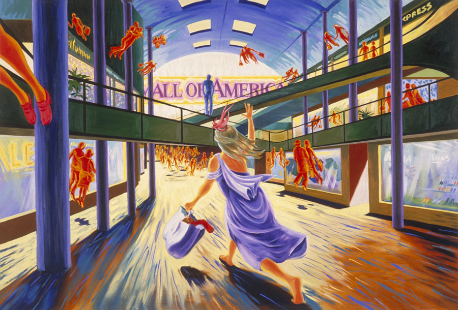 """Aphrodite Goes to the Mall of America""  oil on canvas  48"" x 72""  - SOLD"